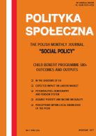 Social Policy, CHILD BENEFIT PROGRAMME 500+ OUTCOMES AND OUTPUTS, Table of Contents 1/2017 English Edition